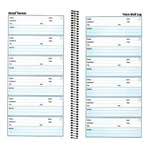 "REDIFORM Detail Voice Mail Log, 10.625 x 5.625"", 6 per Page, 600 Messages (51113)"