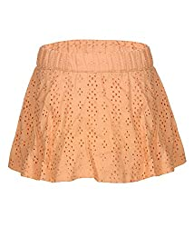 Tickles Girls Woven Skirt(TIWS000080A_5-6Y_Orange_5-6 Years)
