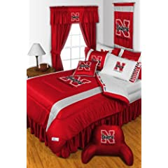 Nebraska Cornhuskers 6 Pc TWIN Comforter Set & Set of Two 5 Pc Valance Drape Sets... by Sports Coverage