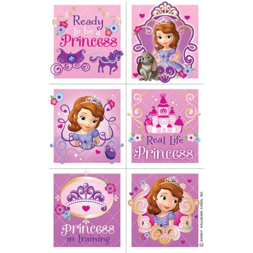 Sofia the First Sticker Sheets - Birthday & Theme Party Supplies - 4 per pack