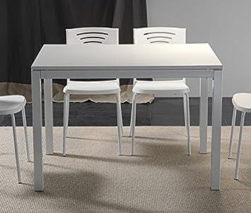 La Seggiola - Tavolo Fisso Majestic Nobilitato - Piano: Nobilitato Classic Ciliegio - Misure: 110x70 - Struttura: Metallo Alluminio