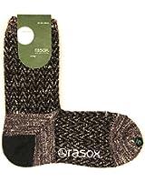 (ラソックス) rasox ヘリンボーンウール・クルー CA142CR01