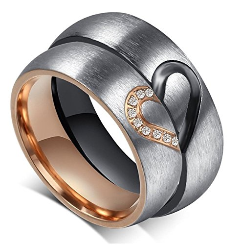 Aegean Jewelry Titanium Couple Fashion Wedding Band Ring