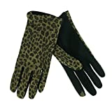 ISOTONER Women's SmarTouch Animal Print Leather Gloves