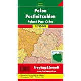 Freytag Berndt Poster, ohne Metallstäbe : Polen, Postleitzahlen; Poland, Post Codes