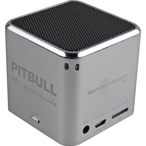 Pitbull Rockdoc Power 1-Way Portable Mp3 Speaker With 4Gb Memory - Silver