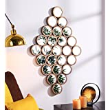 25 Mirrors Collage Gold Color Metal And Glass Wall Mounted Mirror Decorative Hanging Wall Art …