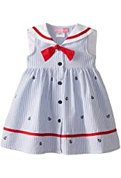 Good Lad Little Girls' Nautical Schiffli Dress