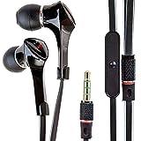 Alpatronix EX120 In-Ear Headphones with Universal Mic/Control for Smartphones (Black)