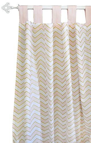 New Arrivals Curtain Panels, Gold Rush in Pink, 2 Count