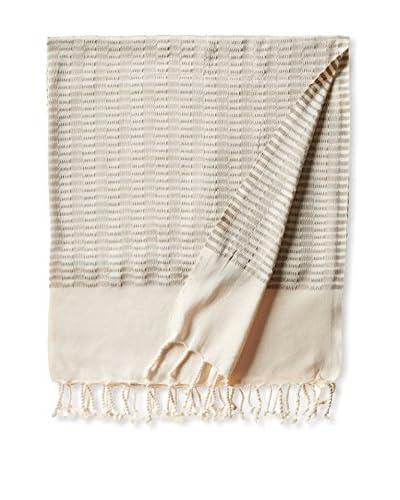 Nomadic Thread Turkish Towel Chic, Natural/Brown