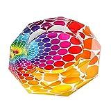 【Woliwowa】 美しい レインボー 虹色 デザイン ガラス製 灰皿 (Eタイプ) [並行輸入品]