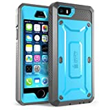 iPhone 5S Case, SUPCASE [Heavy Duty Belt Clip Holster] Apple iPhone 5S Case Compatible with iPhone 5 [Unicorn Beetle PRO Series] Full-body Rugged Hybrid Protective Cover with Built-in Screen Protector (Blue/Black), Dual Layer Design + Impact Resistant Bumper