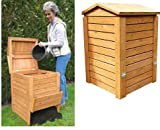 Wooden Beehive Composter (713) Turn your kitchen waste, rubbish into handy garden compost / fertiliser