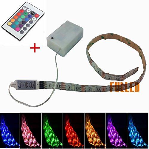 SUNTEC-50CM-100CM-LED-Leiste-RGB-Stripe-Mehrfarbige-mit-Fernbedienung-Batterie-Box-100CM