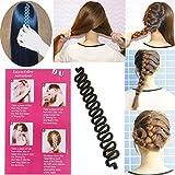 DIY Magic Girl Ladies Hair French Braider Styler Care Braiding Styling Tool Set (Black) by EZY Mart