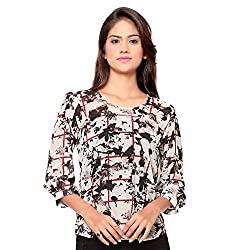 Ossi Regular Fit Off White Floral Long Sleeve top (HS3079-S)