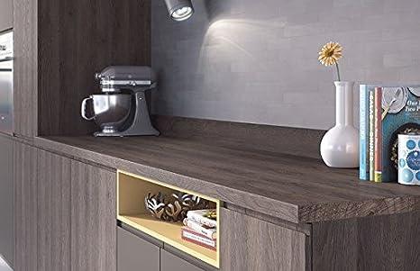 Egger Square Edge Tobacco Gladstone Oak Wood Effect Kitchen Bathroom Laminate Worktop Offcut Work Surface 38mm Breakfast Bar - 1.5m x 920mm x 38mm Breakfast Bar