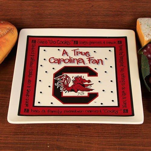 Ncaa South Carolina Gamecocks True Fan Ceramic Square Plate