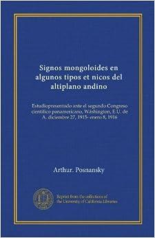Signos mongoloides en algunos tipos et nicos del altiplano andino (Vol