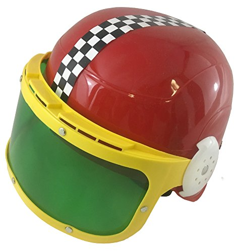 [Child's Red Race Car Driver Motorcycle Racing Helmet And Visor Costume Accessory] (Childs Racing Driver Costume)
