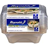 Reynolds Heat & Eat Disposable Containers, 24 oz, 9 Count