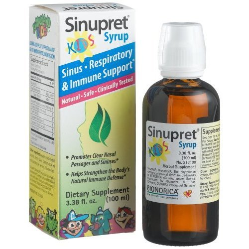 Sinupret Kids Natural Sinus, Respiratory and Immune Support, 3.38-Ounce Bottle
