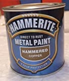 Hammerite Direct To Rust Metal Paint Hammered Copper 250ml SALE