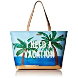 kate spade new york Breath Of Fresh Air I Need A Vacation Francis Tote Bag, Multi, One Size