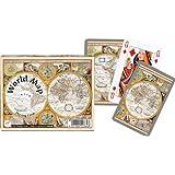 Piatnik Playing Cards - World Map, double deck