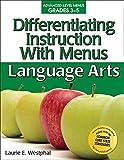 Differentiating Instruction with Menus: Language Arts (Grades 3-5)