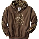 Legendary Whitetails Mens Realtree Camo Outfitter Hoodie Brown/RTAP X-Large