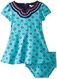Hartstrings Baby Girls' Medallion Print Knit Dress and Panty Set