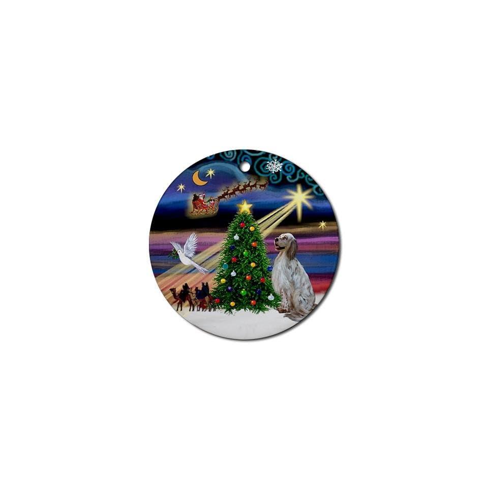 English Setter Dog Round Ornament Round 2 7/8 Diameter