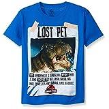 Jurassic Park Big Boys' Short Sleeve T-Shirt Shirt, Royal, Large/14-16