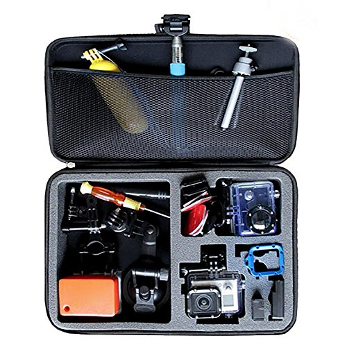 """Neewer EVA Shockproof Carrying Case for Gopro Hero 1/2/3/3+/4 and Accessories with Handle 12.8x8.46x2.48""""/32.5x21.5x6.3cm Large Size Black"""