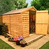 BillyOh 8'x6' Windowless Classic Value Overlap Wooden Garden Shed