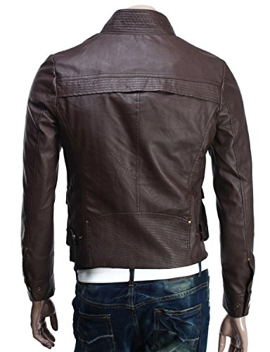 Iftekhar Men's Pure leather Jacket - Black - (Iftekhar37 - XL)