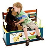 Levels of Discovery Jungle Jingle Bench Seat with Storage, Multi-color