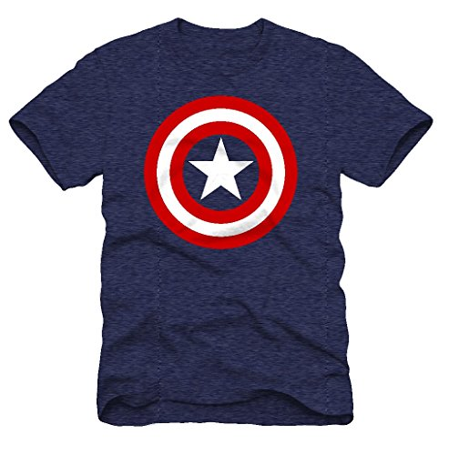 Superhero Marvel T- Shirts for Men (Medium, Captain America Red/White Shield T, Slate) (Captain America Hoodies For Men compare prices)