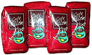 Pilon Ground Dominican Coffee 4 Bags / Pounds Pack