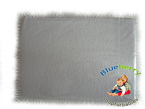 "BlueberryShop 2x TERRY TOWELLING FITTED SHEET TODDLER BED BABY COTBED 60 X 120 cm (23,5"" x 47"") ( 0-7Yrs ) ( 122 x 60 x 16 cm ) White"