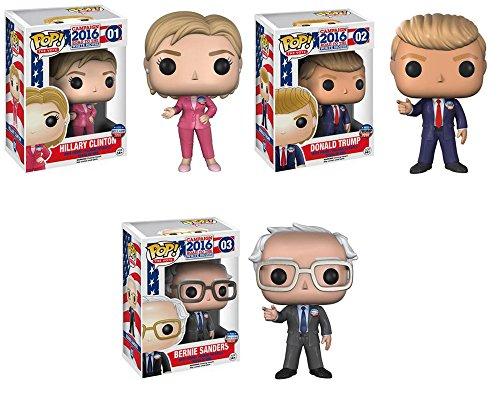 Trump, Clinton, Sanders Pop!  Set of 3