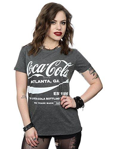 Coca Cola Donna Drink 1886 Maniche arrotolate T-shirt Small Carbone