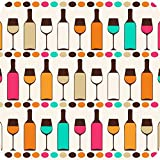 "Printelligent ""Wine Bottles"" SET OF 6 Printed Designer Bar And Dining Table Coaster. Great For Home And Office..."