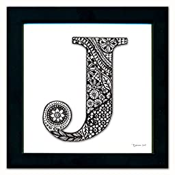 J Monogram Pen & Ink
