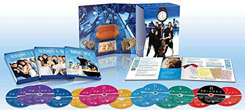 Friends - Complete Series Blu Ray Collection - All Seasons 1, 2, 3, 4, 5, 6, 7, 8, 9 & 10 And Exclusive Extras + Bonus Features (21 Disc Box Set)