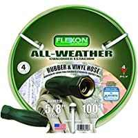 Flexon FAW58100 5/8-Inch X 100-Foot All-Weather 4-Ply Medium Duty Garden Hose