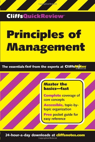 Principles of Management (Cliffs Quick Review)