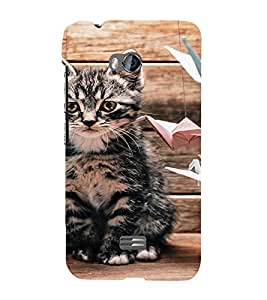 EPICCASE sad cat Mobile Back Case Cover For Micromax Q336 (Designer Case)
